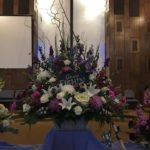 purple flower arrangements for funerals